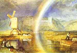 Arundel Castle With Rainbow 1824