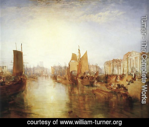 Turner - The Harbor of Dieppe 1826