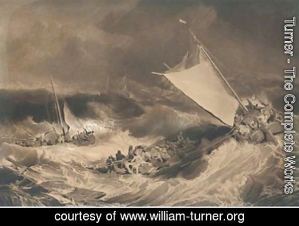 Turner - A shipwreck, by C. Turner