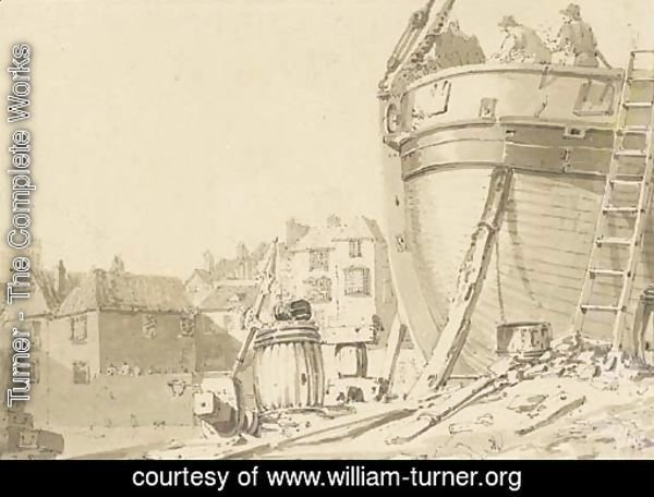 A boatbuilder's yard, Dover