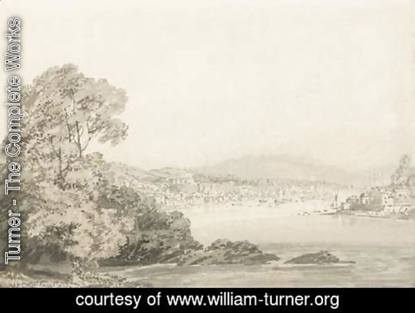 Turner - An estuary, possibly Darmouth