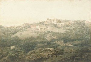 Turner - An Italian landscape, possibly Frascati