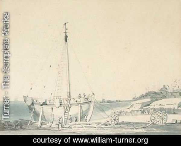 Turner - Boat-building at Dover