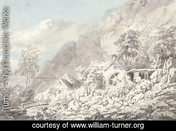 Turner - Boot Mill in Eskdale on Whillan Beck, Lake District