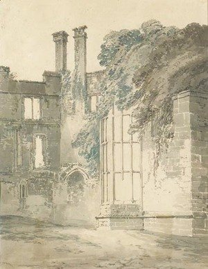 Turner - Interior of Raglan Castle, South Wales
