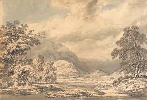 Turner - Looking south into Borrowdale, Lake District