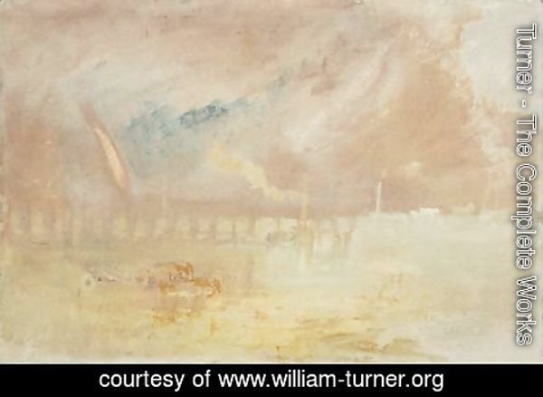 Turner - A view on the Mosel, possibly Coblenz, Germany