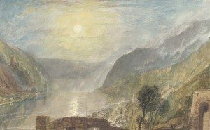 Turner - From Rheinfels looking over St. Goar to Burg Katz, Germany