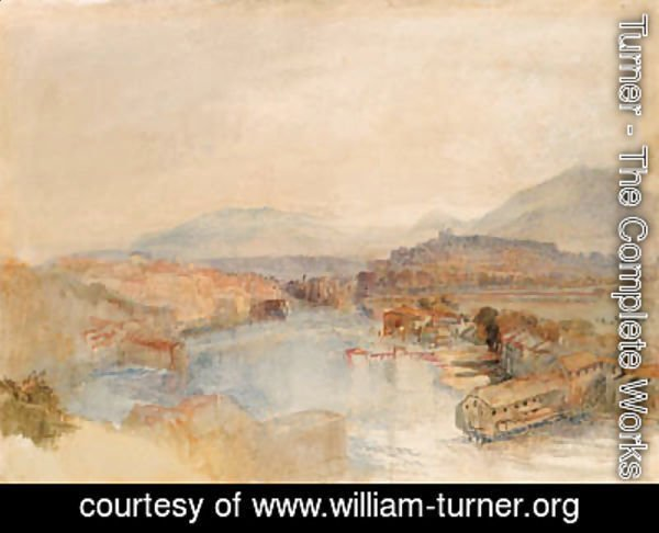 Turner - Geneva from the West, from the junction of the Arve and the Rhone