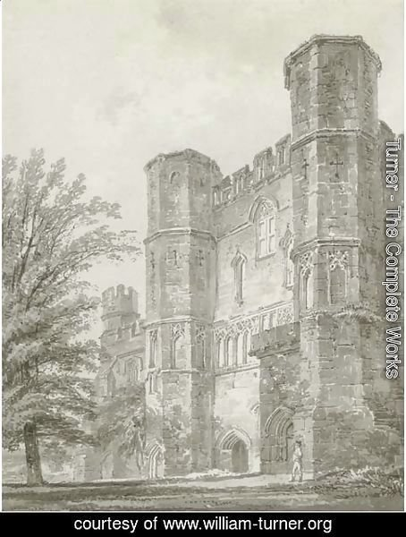 Turner - The Abbey Gate, Battle Abbey, Sussex