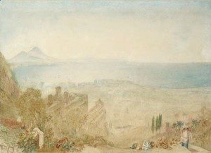 Turner - View of Naples with Vesuvius in the distance, morning