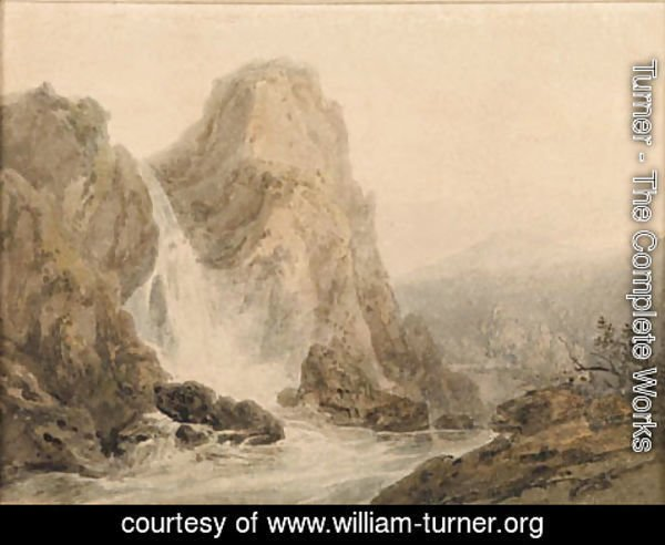 Turner - A Waterfall