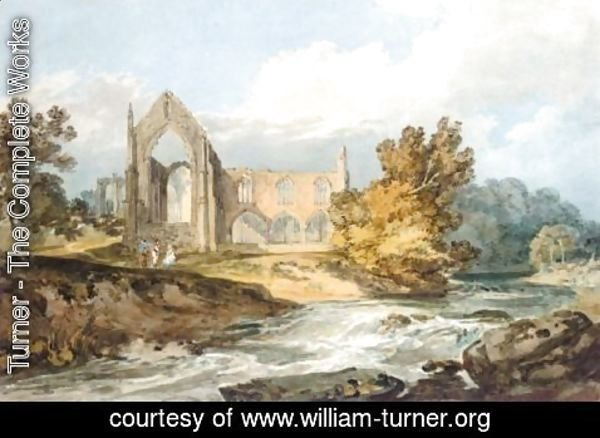 Turner - Bolton Abbey, Yorkshire On The Wharfe