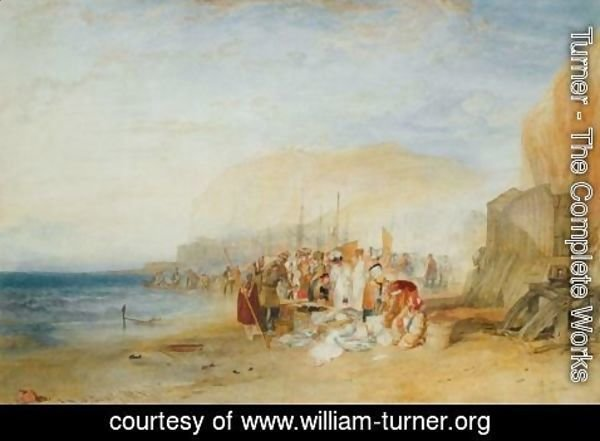Turner - Hastings Fish Market On The Sands, Early Morning