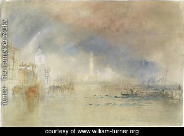 Venice Looking Towards The Dogana And San Giorgio Maggiore, With A Storm Approaching