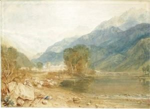 Turner - A View From The Castle Of St. Michael, Bonneville, Savoy, From The Banks Of The Arve River