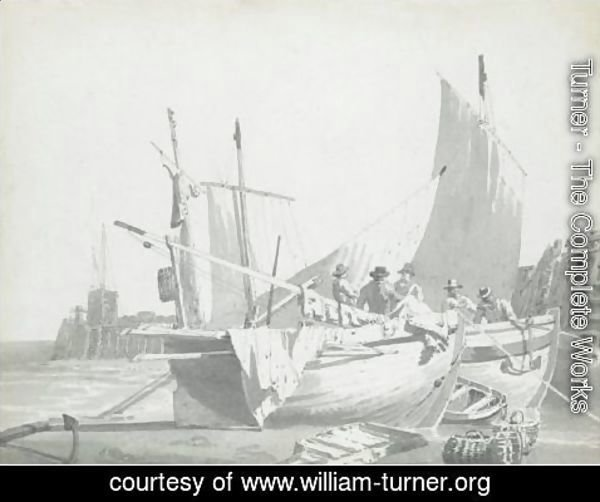 Turner - Boats In The Harbour At Dover