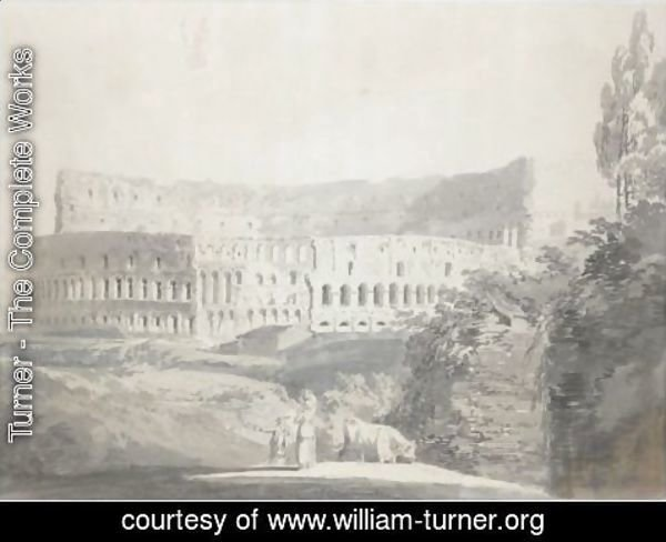 Turner - View Of The Colosseum, Rome