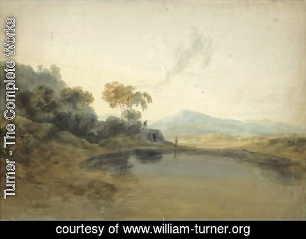 Turner - Open Landscape With A Kiln And Mountains Beyond