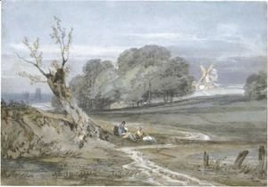 Landscape With Mill, Durham Cathedral In The Background