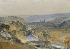 Turner - The Valley Of Washburn And Leathley Church