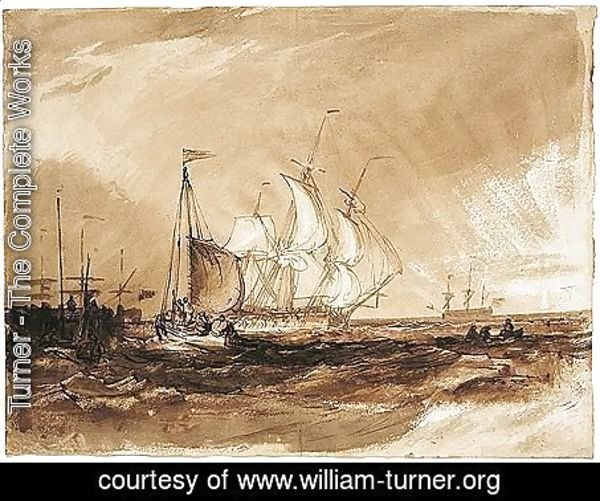 Turner - Shipping Off The Coast
