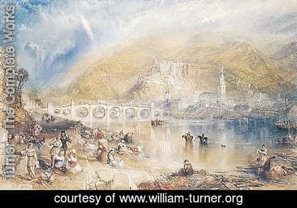 Turner - Heidelberg With A Rainbow