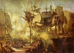 Turner - The Battle of Trafalgar, as seen from the from the Victory