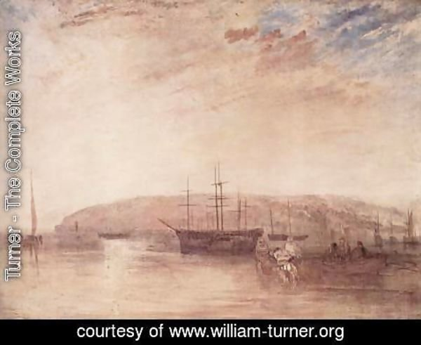 Turner - Ship traffic in front of the headland of East Cowes