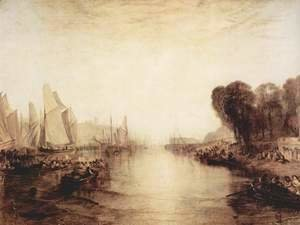 Turner - East Cowes Castle, the residence of J. Nash, The regatta sets out to moor