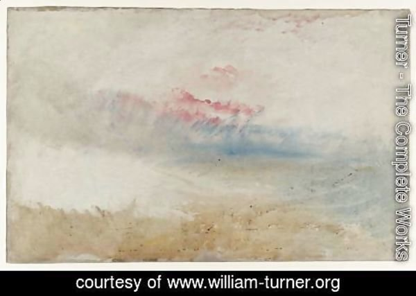 Turner - Red Sky over a Beach