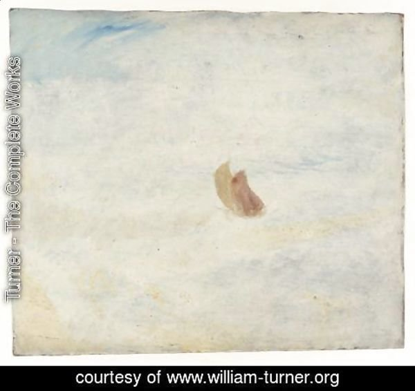 Turner - Sailing Boat in a Rough Sea