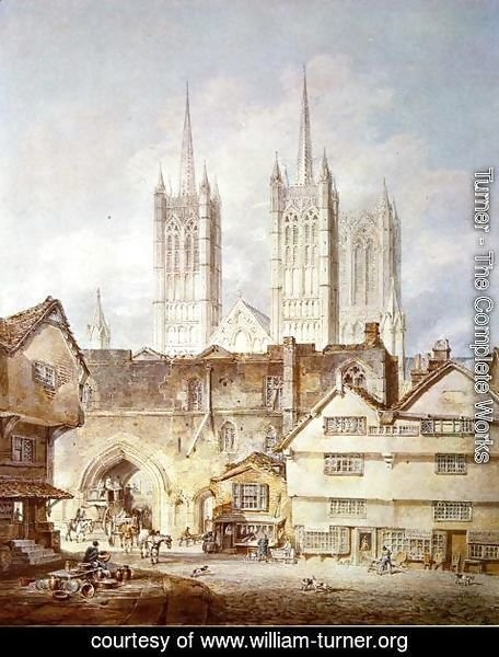 Turner - Cathedral Church At Lincoln