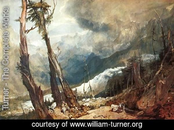Turner - Glacier And Source Of The Arveron  Going Up To The Mer De Glace