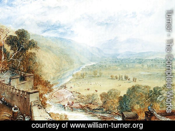 Turner - Ingleborough From The Terrace Of Hornby Castle
