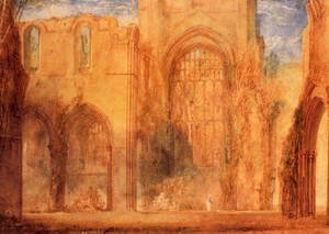 Turner - Interior Of Fountains Abbey  Yorkshire