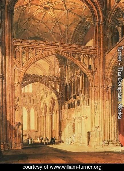 Turner - Interior Of Salisbury Cathedral
