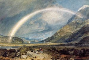 Turner - Kilchern Castle  With The Cruchan Ben Mountains  Scotland Noon