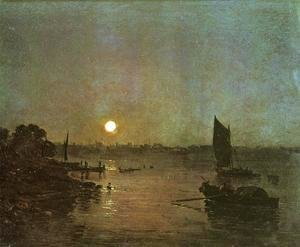 Turner - Moonlight  A Study At Millbank