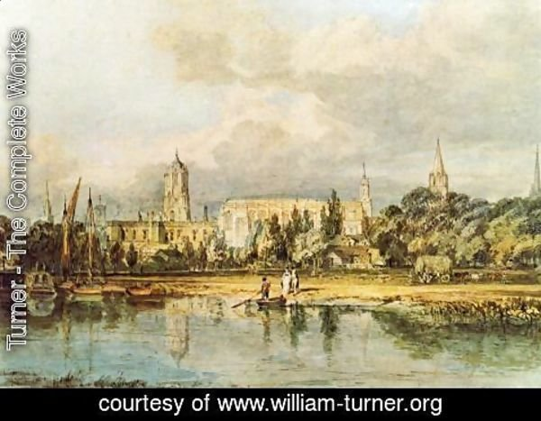 Turner - South View Of Christ Church  Etc   From The Meadows