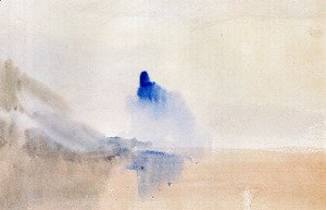 Turner - Study Of A Castle By A Lake
