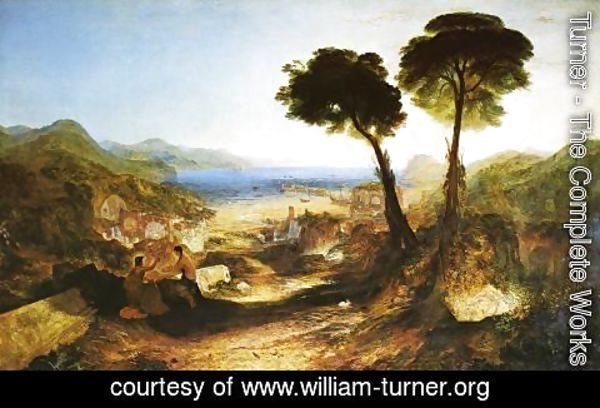 Turner - The Bay of Baiae with Apollo and the Sibyl  1823