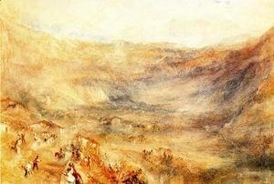 Turner - The Brunig Pass  From Meringen
