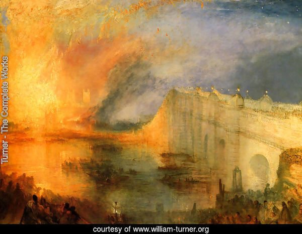 The Burning of the Houses of Parliament (1) 1834