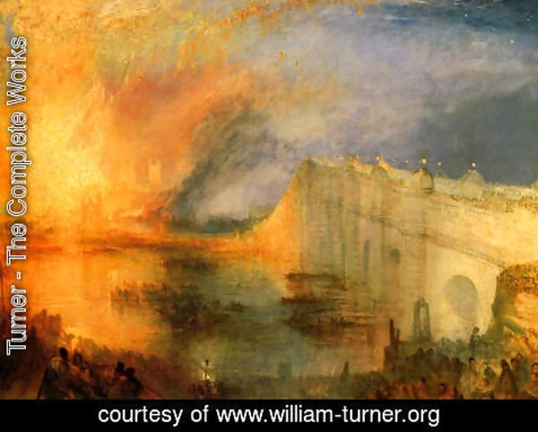 Turner - The Burning of the Houses of Parliament (1) 1834