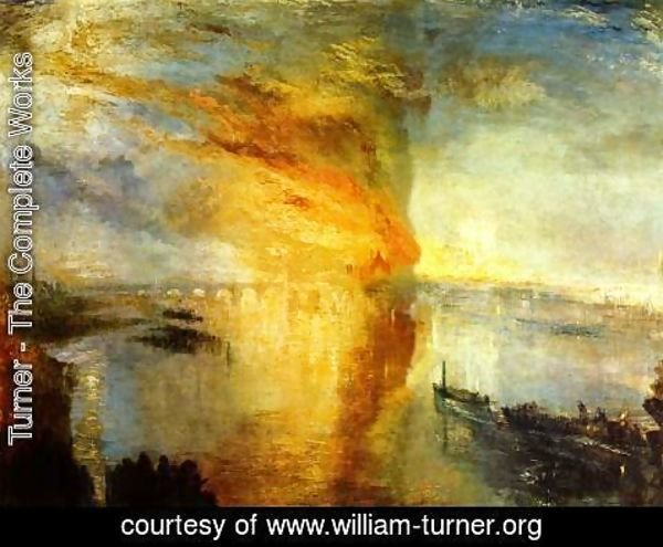 Turner - The Burning of the Houses of Parliament (2) 1834