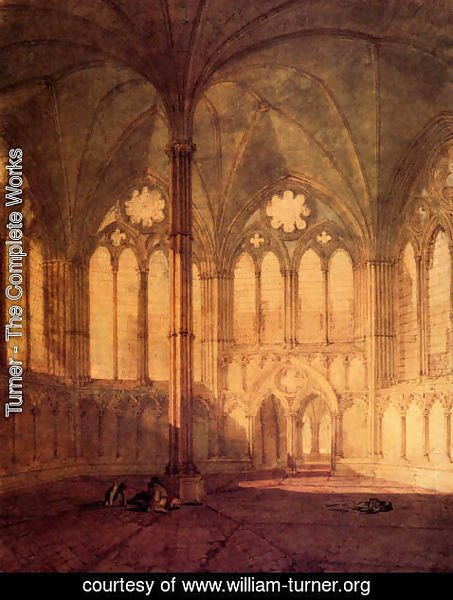 Turner - The Chapter House  Salisbury Chathedral