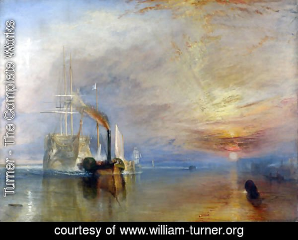 Turner - The 'Fighting Temeraire' tugged to her Last Berth to be broken up 1838-39