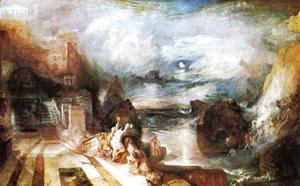 Turner - The Parting Of Hero And Leander   From The Greek Of Musaeus