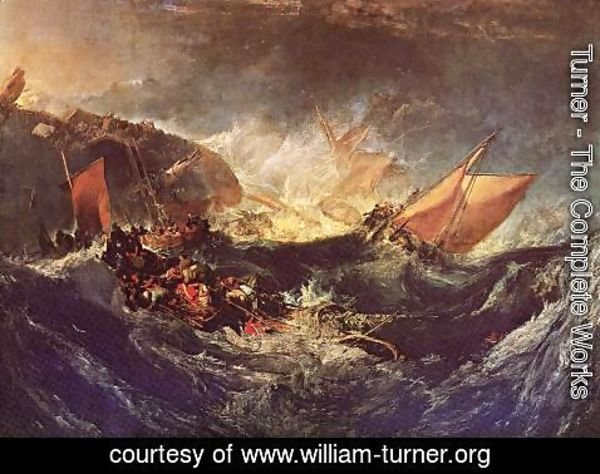 Turner - The Wreck Of A Transport Ship